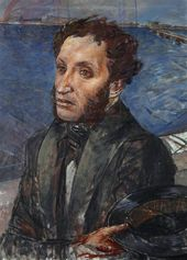 Kuzma PETROV-VODKIN. Alexander Pushkin. 1934
