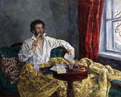 Pyotr KONCHALOVSKY. Pushkin Writing Poetry. 1937–1944