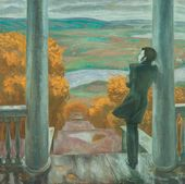 Viktor POPKOV. Autumn Rains. Pushkin. 1974