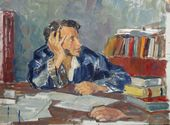 Nikolai ULYANOV. Pushkin at His Writing Desk. 1936–1949