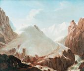 Mikhail LERMONTOV. A View of Krestovaya Mountain. 1837–1838