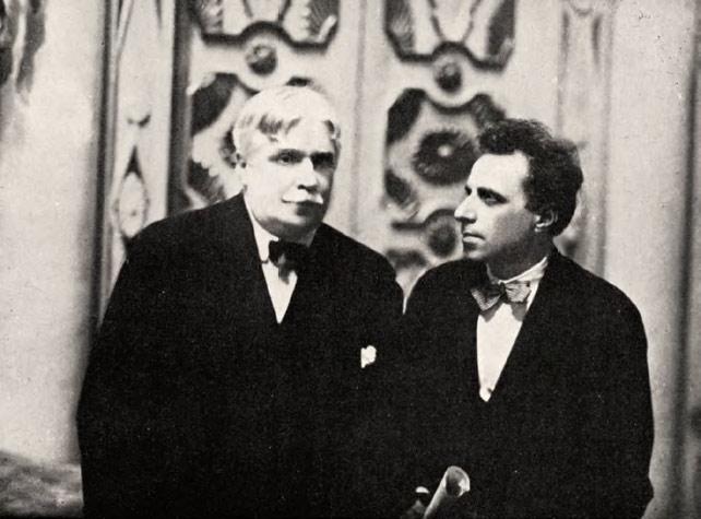 Alexander Golovin and Vsevolod Meyerhold. 1923