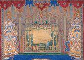 "Alexander GOLOVIN. Set design for Molière's ""Don Juan"" at the Alexandrinsky Theatre. 1910"