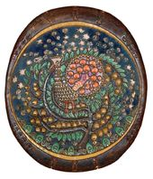 "Decorative dish ""The Firebird"". From a sketch by Alexander Golovin. 1898-1899"