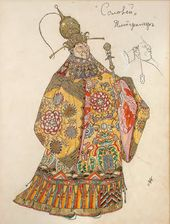 "Alexander Golovin. Costume design for the Emperor, ""The Nghtingale"". 1918"