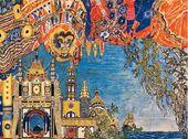 "Alexander GOLOVIN. Set design for Act III, ""The Nightingale"". 1918"