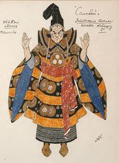 "Alexander GOLOVIN. Costume design for the Third Japanese Ambassador, ""The Nightingale"". 1918"