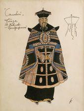 "Alexander GOLOVIN. Costume design for the Bonze, ""The Nightingale"". 1918"