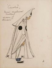 "Alexander GOLOVIN. Costume design for an Attendant at the Funerary Procession, ""The Nightingale"". 1918"