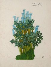 """Alexander GOLOVIN. Design for a plant in the Emperor's garden I, """"The Nightingale"""". 1918"""