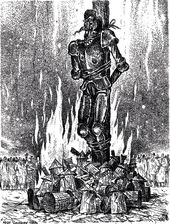 """Igor Smirnov. Death by Burning. 1996. From the series """"All About Don Quixote"""""""