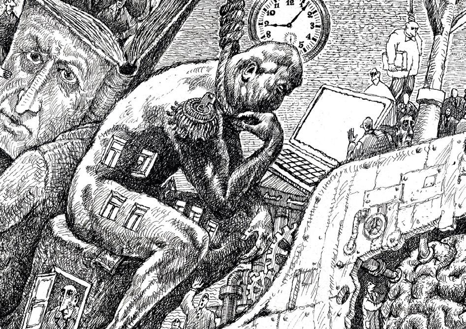 Igor Smirnov. Ship 2. 2018. Detail. The Thinker