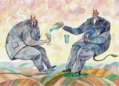 Igor Smirnov. Two Men: Fête champêtre. 2004