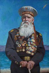 Pyotr STRONSKY. Portrait of Marines Veteran Georgy Shirokov. 2014