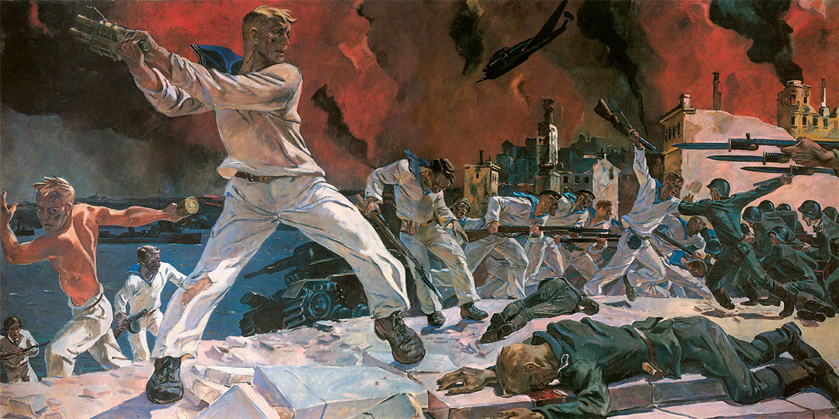 Аlexander DEINEKA. The Defence of Sevastopol. 1942