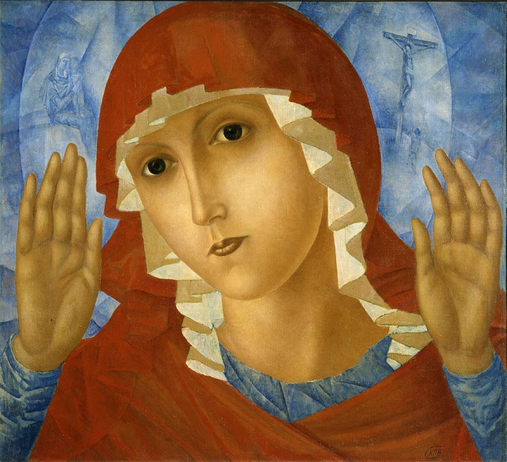 Kuzma PETROV-VODKIN. The Virgin of Tenderness towards Evil Hearts. 1914–1915