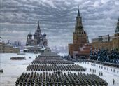 Konstantin YUON. Parade on Red Square. November 7 1941. 1949