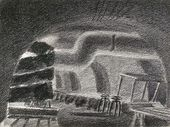 """Alexander NIKOLSKY. The Fifth Bomb Shelter. From the series """"The Hermitage in the Days of the Blockade"""". 1941-1942"""