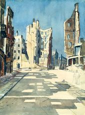 Alexander DEINEKA. Berlin. Bombed-out Buildings. 1945