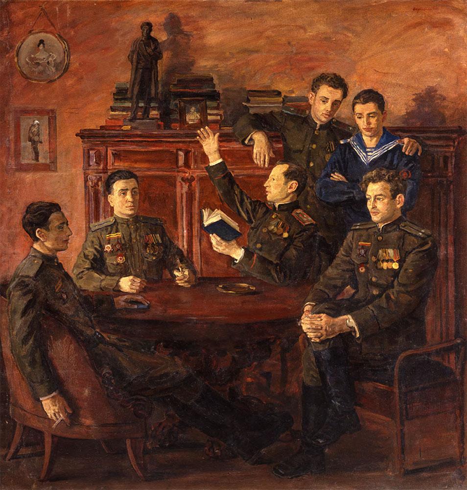 Vladimir PEREYASLAVETS. Group Portrait of Descendants of Alexander Pushkin. 1957