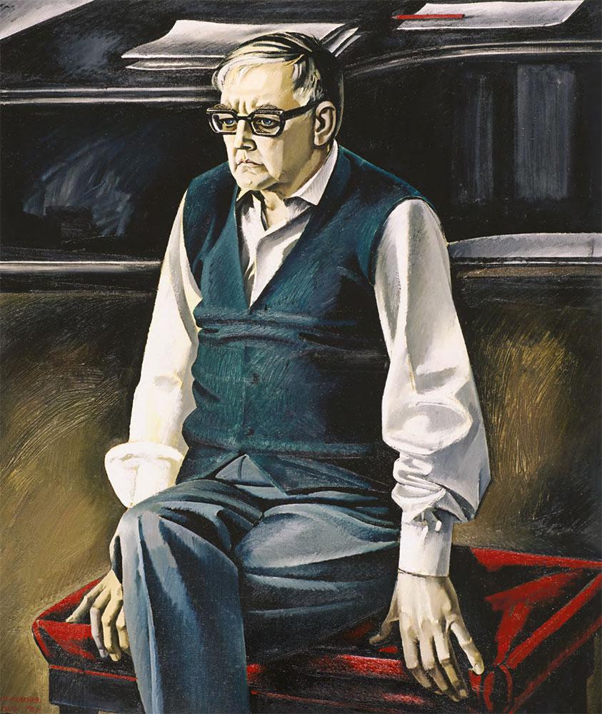 Tair SALAKHOV. Portrait of Shostakovich. 1974–1976