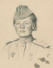 Solomon TELINGATER. Portrait of Telegraph Operator Anna Nikolaeva. 1943