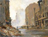 Nikolai SOKOLOV. Berlin Street near Alexanderplatz. 1945