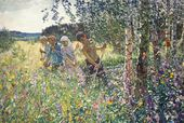 Arkady PLASTOV. Haymaking. 1945