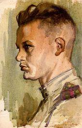 Nikolai KOVALCHUK. Self-portrait. May 1945. 1945