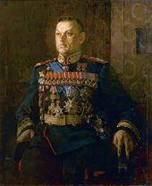 Pyotr KOTOV. Portrait of Konstantin Rokossovsky. 1946