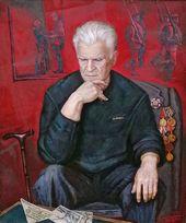 Pyotr STRONSKY. Portrait of Timofei Stronsky, Veteran of the Karelian Front.