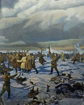 Marat SAMSONOV, Alexander SAMSONOV (co-author). The Soviet Forces Seal the Ring around Stalingrad. 1995. Detail