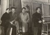 At the Grekov Studio of War Artists. Early 1960s