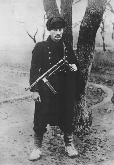 Vladimir Tsigal after a landing operation in Malaya Zemlya. 1943