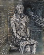 Henry MOORE. Woman Seated in the Underground. 1941