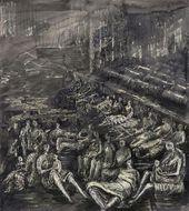 Henry MOORE. A Tilbury Shelter Scene. 1941