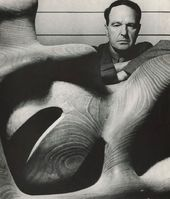 Bill BRANDT. Henry Moore at his studio at Much Hadham, Hertfordshire. 1948