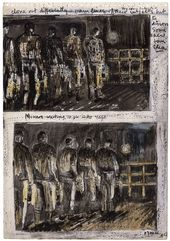 Henry MOORE. Miners Waiting to Go into Cage. 1942
