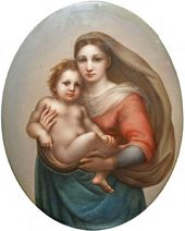 Ferdinand ZAPF. The Sistine Madonna. 1830-1850s