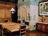 The dining-room of the Viktor Vasnetsov House-Museum, Moscow