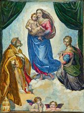 Pavel KORIN. The Sistine Madonna. 1945–1955