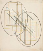 Anastasiya AKHTIRKO. A composition of mutually intersecting forms. 1921-1922