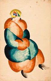 Anastasiya AKHTIRKO. Drawing of a figure. 1921-1922 academic year