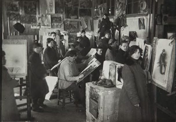 The VKHUTEMAS. Studio at the Department of Painting. Early 1920s