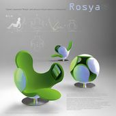 Tatyana REPINA. Design project of a transforming chaise longue Rosya for residential and public premises