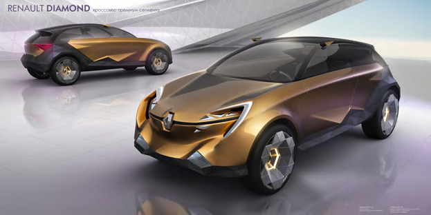 Pavel and Anastasiya CHERNISHEV. Design of Renault Diamond premium crossover