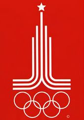 Vladimir ARSENTIEV, student of Moscow Higher School of Art and Industry. Emblem of the 1980 Moscow Olympic Games