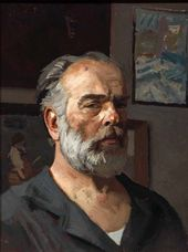 Gely KORZHEV. Self-portrait. 1980