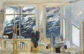 Illarion GOLITSIN. Artist's Studio. 1967