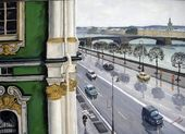 Lev SHEPELEV. Looking out of the Windows of the Hermitage. 2006